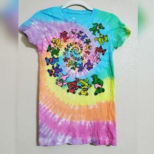 Grateful DeadSpiral Bears Tie-Dye T-Shirt